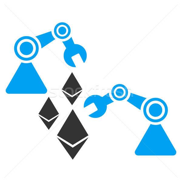 Ethereum Mine Robotics Flat Icon Stock photo © ahasoft