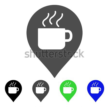 Taza de café marcador icono vector estilo gráfico Foto stock © ahasoft