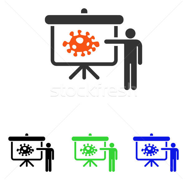Bacteria Lecture Flat Vector Icon Stock photo © ahasoft