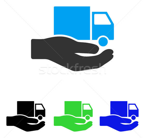 Van Delivery Service Hand Flat Vector Icon Stock photo © ahasoft
