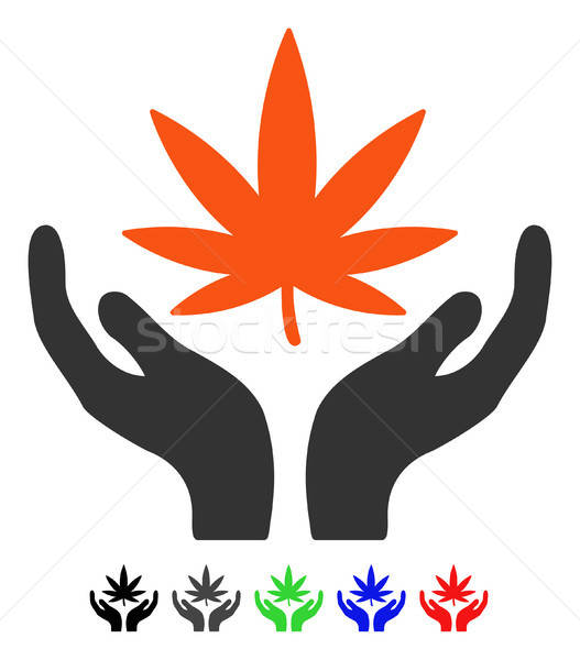 Cannabis Care Flat Icon Stock photo © ahasoft