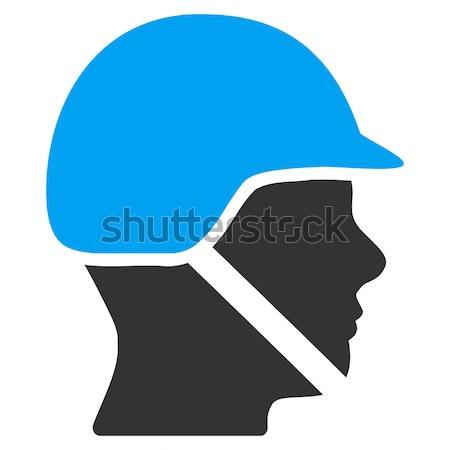 Menino cabeça ícone vetor cor Foto stock © ahasoft