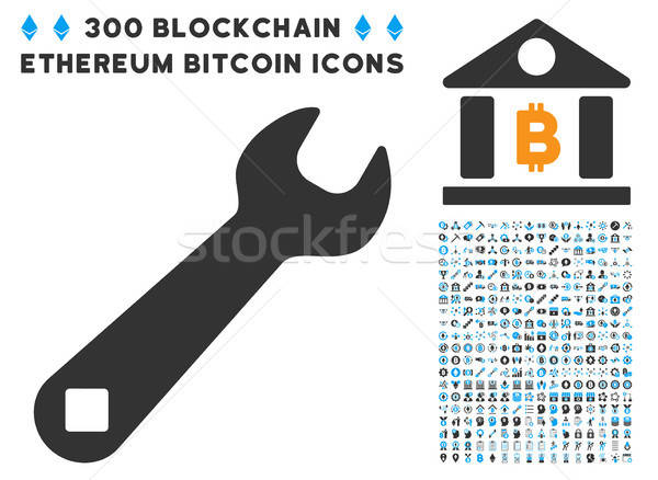 Wrench Flat Icon with Collection Stock photo © ahasoft