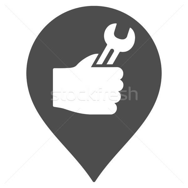 Servicio mano marcador icono vector pictograma Foto stock © ahasoft
