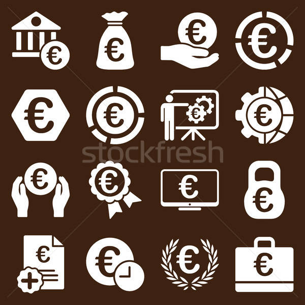 Euro bankacılık iş hizmet araçları simgeler Stok fotoğraf © ahasoft