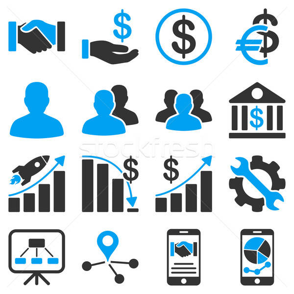 Business charts and bank icons.  Stock photo © ahasoft