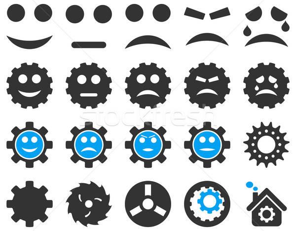 Strumenti sorriso attrezzi icone vettore set Foto d'archivio © ahasoft