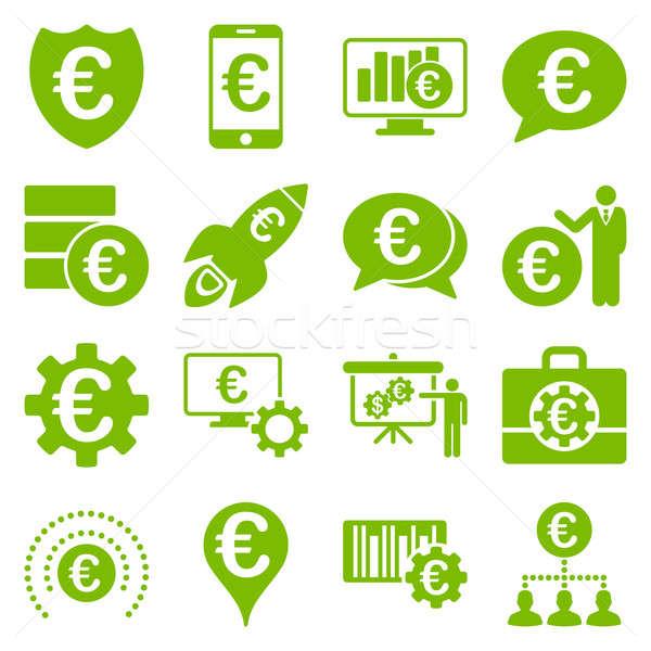 Euros bancario negocios servicio herramientas iconos Foto stock © ahasoft