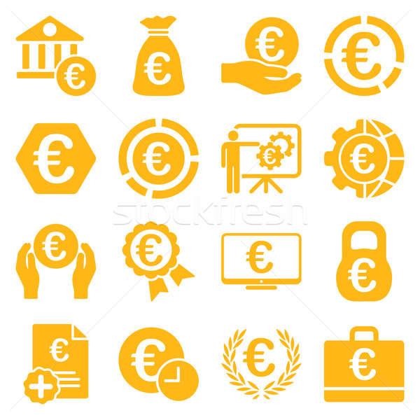 Stock fotó: Euro · bankügylet · üzlet · szolgáltatás · szerszámok · ikonok