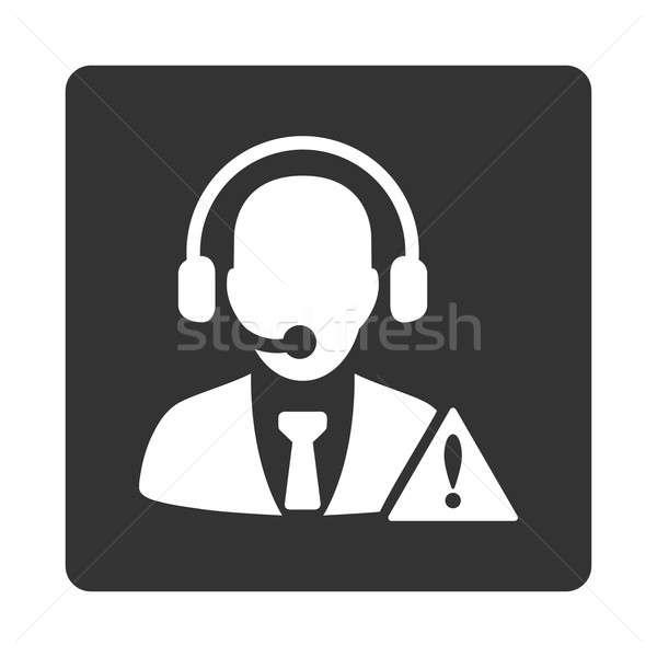緊急 サービス アイコン スタイル 白 グレー ストックフォト © ahasoft