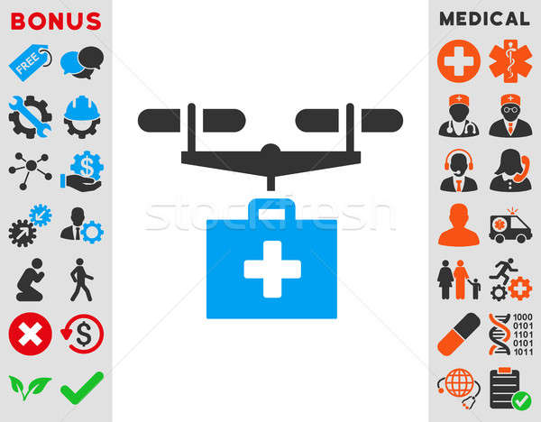 Drug Drone Delivery Icon Stock photo © ahasoft