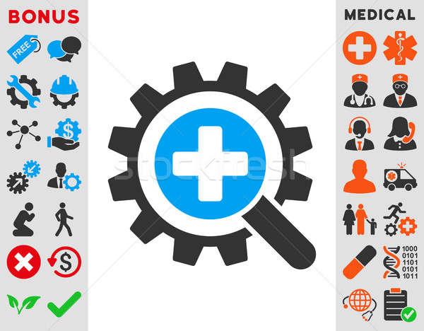 находить медицинской технологий икона стиль символ Сток-фото © ahasoft