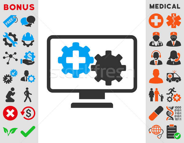 Medical Process Monitoring Icon Stock photo © ahasoft