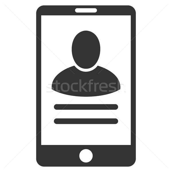 Mobile User Properties Flat Raster Icon Stock photo © ahasoft