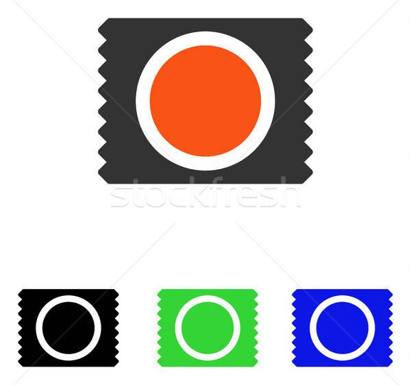 óvszer csomag vektor ikon illusztráció stílus Stock fotó © ahasoft