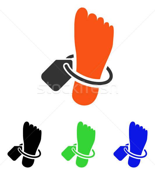 Tag vector icon pictogram illustratie stijl Stockfoto © ahasoft