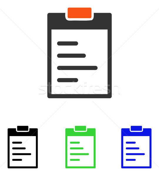 Texto vector icono pictograma ilustración estilo Foto stock © ahasoft