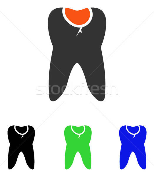 Tooth Caries Flat Vector Icon Stock photo © ahasoft