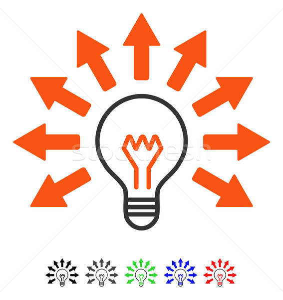 Electric Light Flat Icon Stock photo © ahasoft