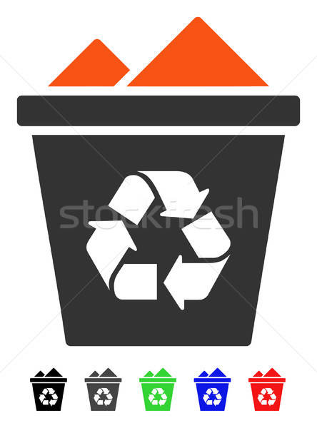 Full Recycle Bin Flat Icon Stock photo © ahasoft