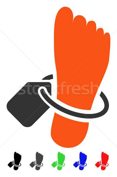 Tag icon gekleurd kleur zwarte grijs Stockfoto © ahasoft