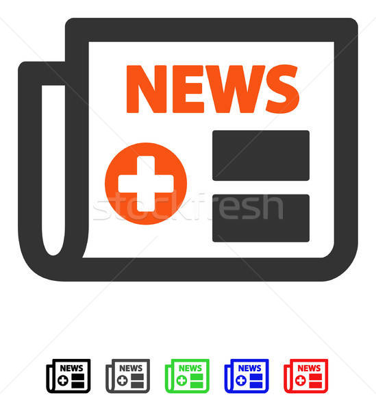 Medical Newspaper Flat Icon Stock photo © ahasoft