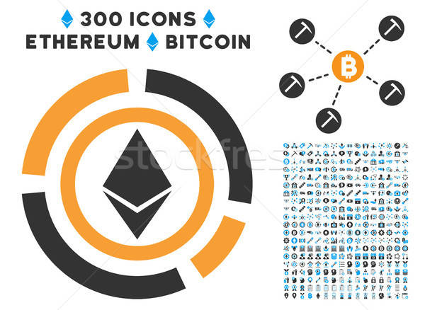 Ethereum Diagram Flat Icon with Stock photo © ahasoft