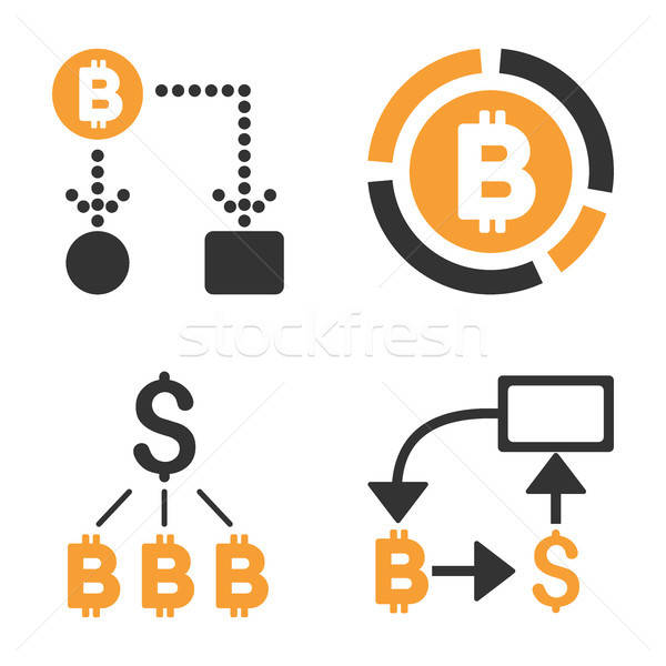 Bitcoin vector stijl business geld Stockfoto © ahasoft