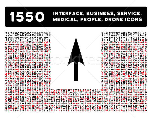 Stock photo: Arrow Axis Y Icon and More Interface, Business, Tools, People, Medical, Awards Flat Vector Icons