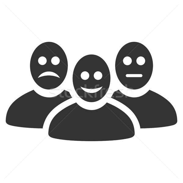 Stockfoto: Gebruikers · icon · stijl · grafische · grijs