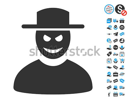Cavalheiro ícone estilo gráfico cinza símbolo Foto stock © ahasoft