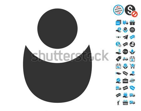 Személy ikon stílus grafikus szürke szimbólum Stock fotó © ahasoft