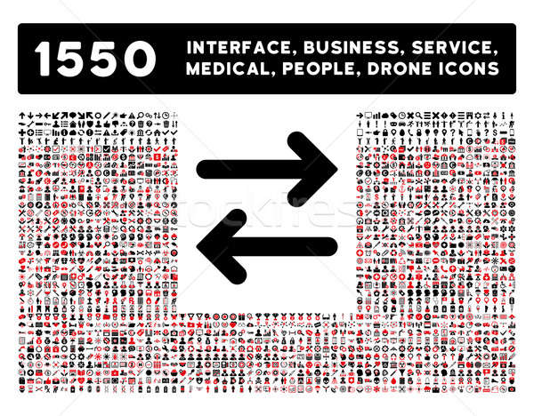 Flip Horizontal Icon and More Interface, Business, Tools, People, Medical, Awards Flat Glyph Icons Stock photo © ahasoft
