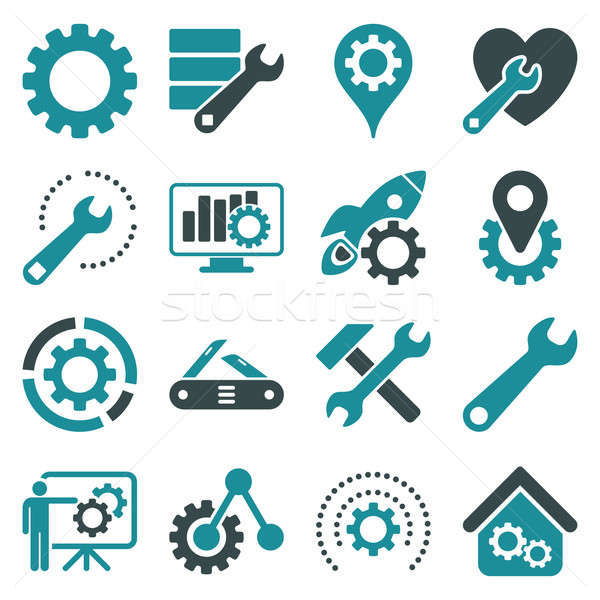 Opciones servicio herramientas estilo símbolos Foto stock © ahasoft