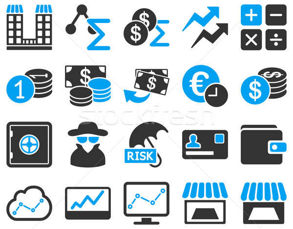 Accounting service and trade business icon set.  Stock photo © ahasoft