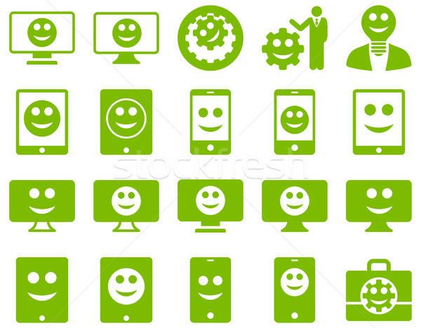 Stockfoto: Tools · opties · glimlacht · iconen · vector