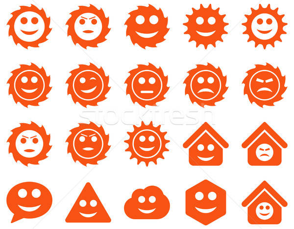 Stock fotó: Szerszámok · sebességváltó · mosoly · érzelmek · ikonok · vektor