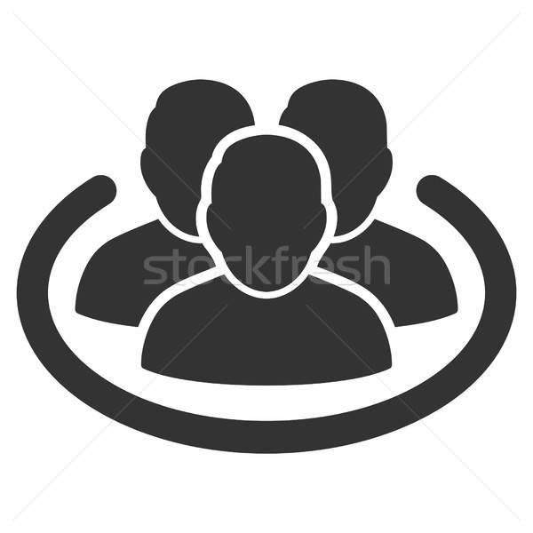 социальной кольца вектора икона серый интерфейс Сток-фото © ahasoft