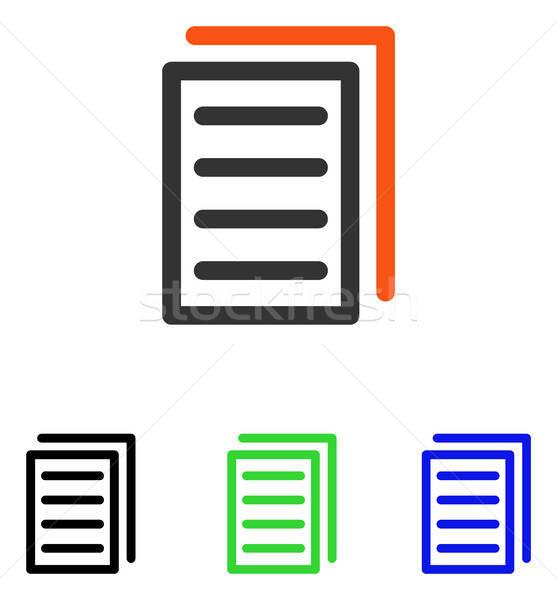 Copy Document Flat Vector Icon Stock photo © ahasoft