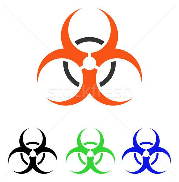 Bio danger vecteur icône pictogramme illustration Photo stock © ahasoft
