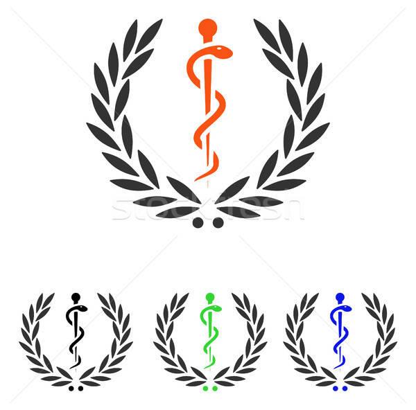 Cuidar emblema vetor ícone ilustração estilo Foto stock © ahasoft