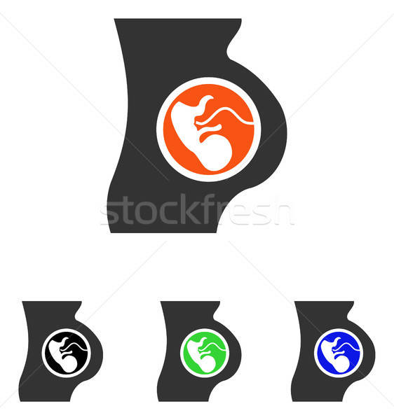 Pregnancy Flat Vector Icon Stock photo © ahasoft