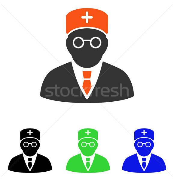 основной врач вектора икона пиктограммы иллюстрация Сток-фото © ahasoft
