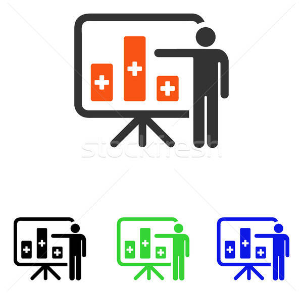 Orvosi nyilvános jelentés vektor ikon piktogram Stock fotó © ahasoft