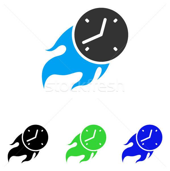 Deadline Fire Flat Vector Icon Stock photo © ahasoft