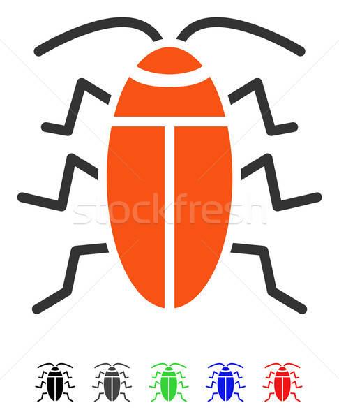 Hamamböceği ikon vektör renkli renk siyah Stok fotoğraf © ahasoft