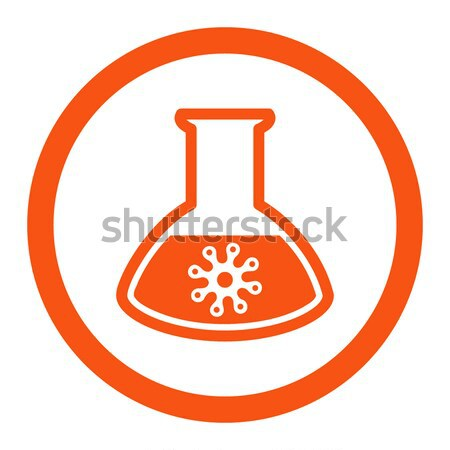 Virus Analysis Flat Icon Stock photo © ahasoft