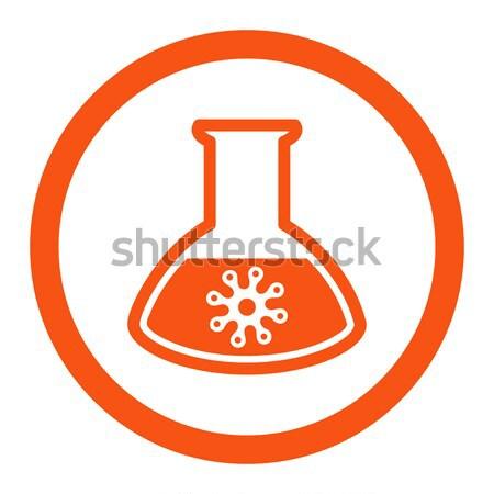 Stock photo: Virus Analysis Flat Icon