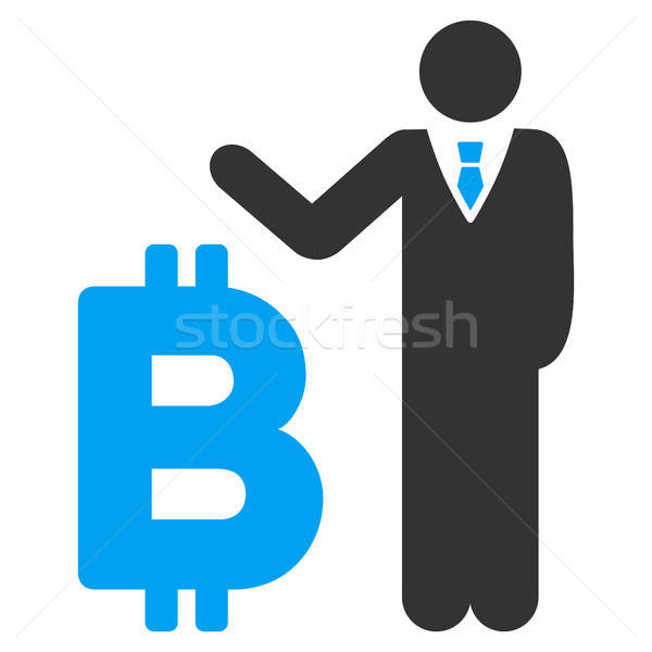 Bitcoin bankier icon vector pictogram toepassing Stockfoto © ahasoft