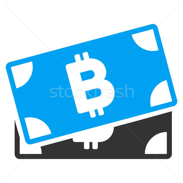 Bitcoin Banknotes Flat Icon Stock photo © ahasoft